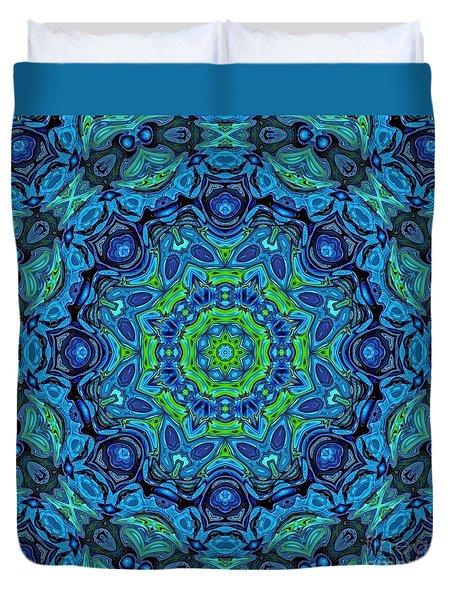 So Blue - 43 - Mandala Duvet Cover
