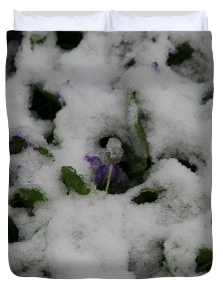 Duvet Cover featuring the photograph So Much For An Early Spring by David S Reynolds