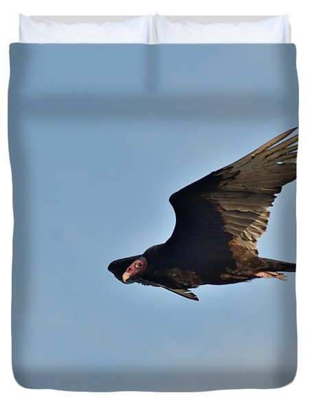 Duvet Cover featuring the photograph Soaring by David Porteus