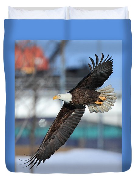 Soaring Eagle Duvet Cover by Coby Cooper
