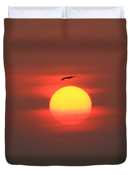 Soaring High Duvet Cover by Roger Becker