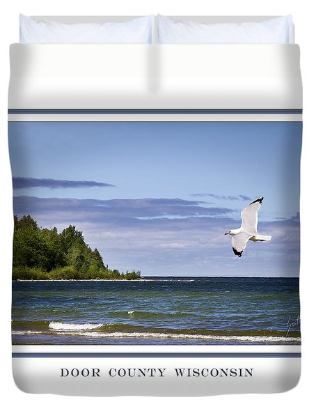 Soaring Over Door County Duvet Cover