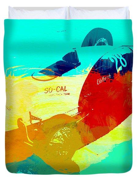Socal Duvet Cover by Naxart Studio