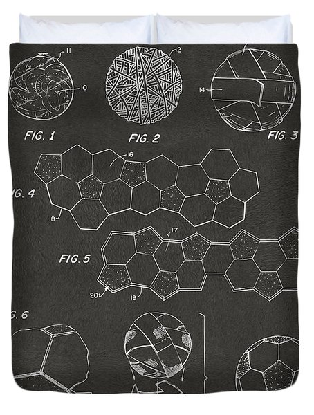 Soccer Ball Construction Artwork - Gray Duvet Cover