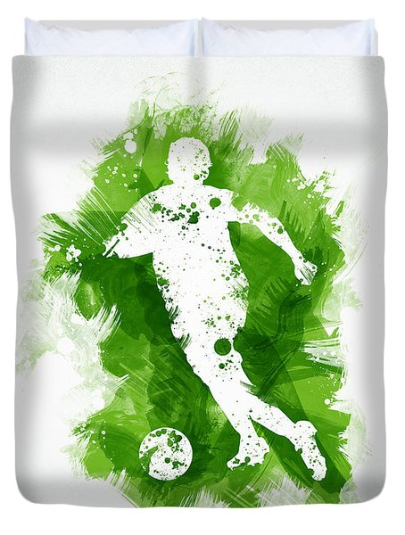 Soccer Player Duvet Cover