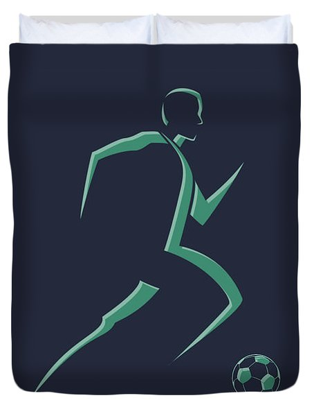 Soccer Player1 Duvet Cover
