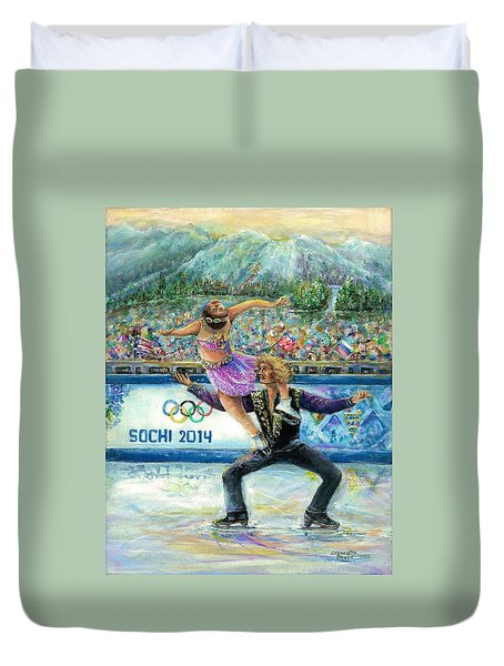 Sochi 2014 - Ice Dancing Duvet Cover