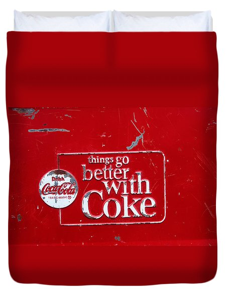 Soda Of Choice Duvet Cover by Toni Hopper