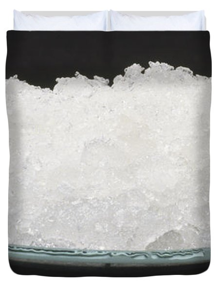 Sodium Carbonate Decahydrate Crystals Duvet Cover