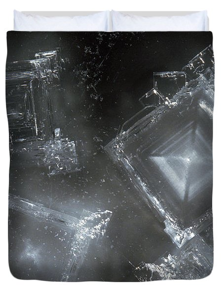 Sodium Hydroxide Crystals Duvet Cover by Charles D Winters
