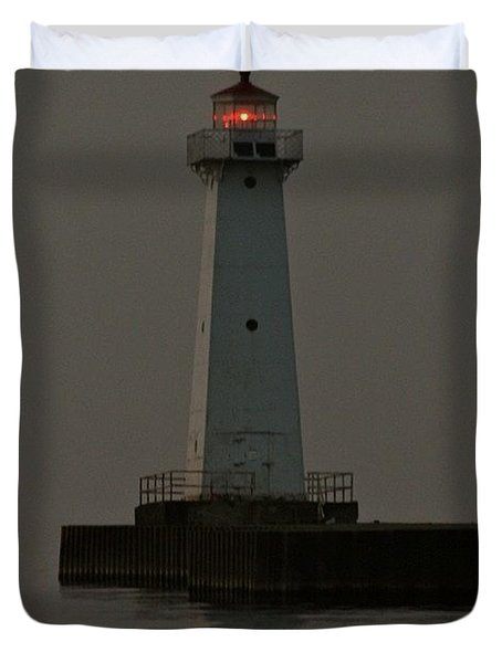 Sodus Point Beacon Duvet Cover