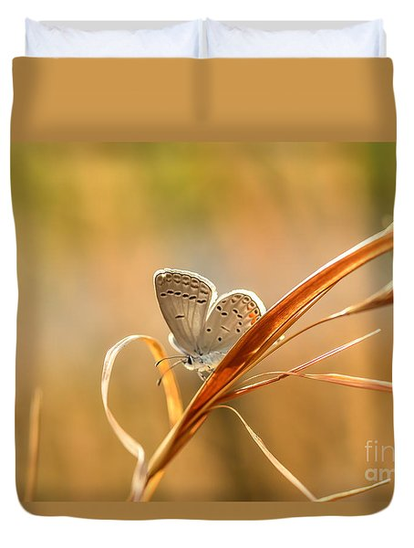 Soft Baby Blue Duvet Cover by Debbie Green