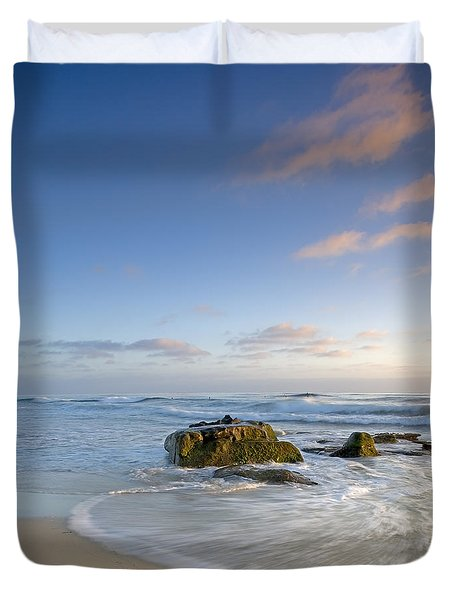 Soft Blue Skies Duvet Cover