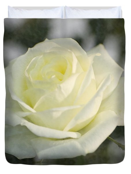 Soft Cream Rose Duvet Cover