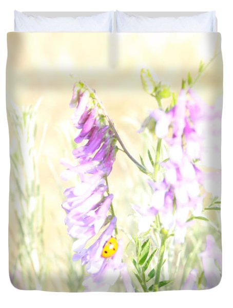 Soft Desert Flower Duvet Cover
