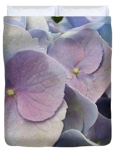 Duvet Cover featuring the photograph Soft Hydrangea  by Caryl J Bohn