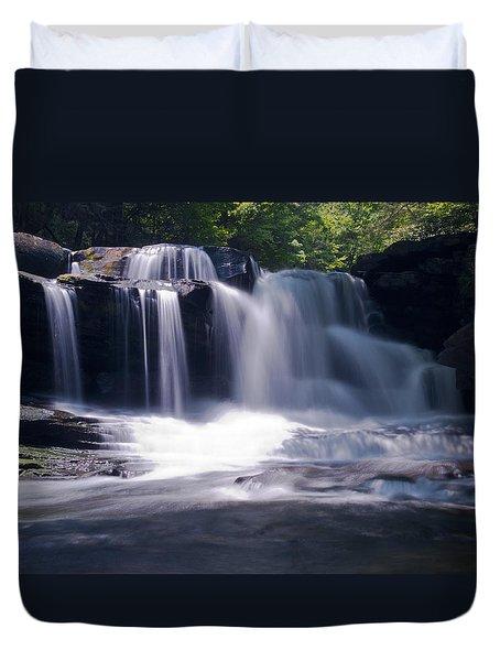 Soft Light Dunloup Falls Duvet Cover