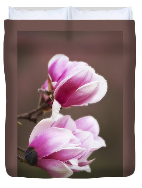 Soft Magnolia Blossoms Duvet Cover