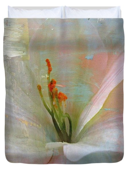 Soft Painted Lily Duvet Cover