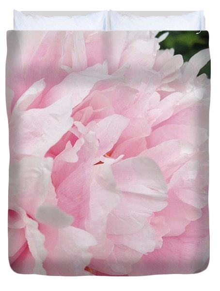 Duvet Cover featuring the digital art Soft Pink Peony by Jeannie Rhode