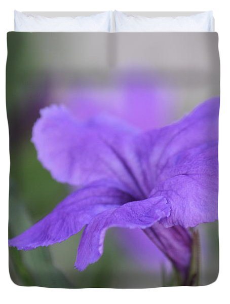 Duvet Cover featuring the photograph Soft Purple Floral by Penny Meyers