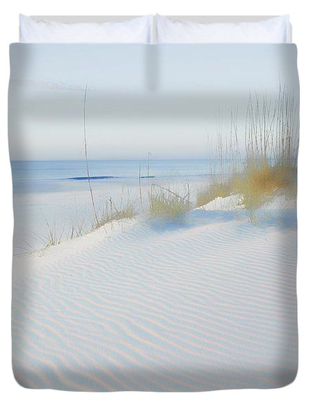 Soft Sandy Beach Duvet Cover by Michael Thomas