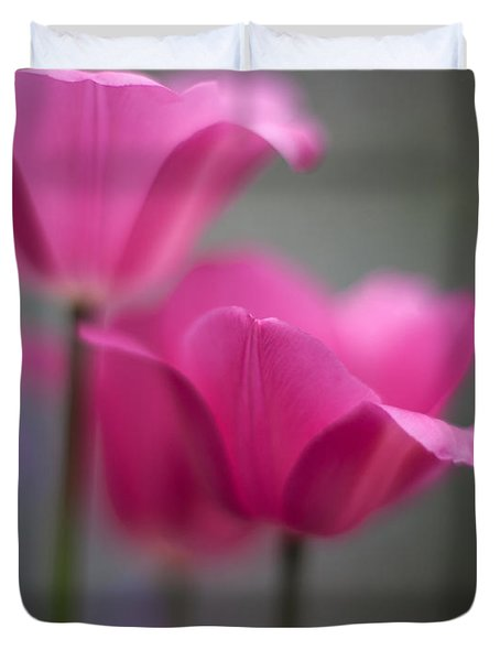 Soft Tulip Twilight Duvet Cover by Mike Reid