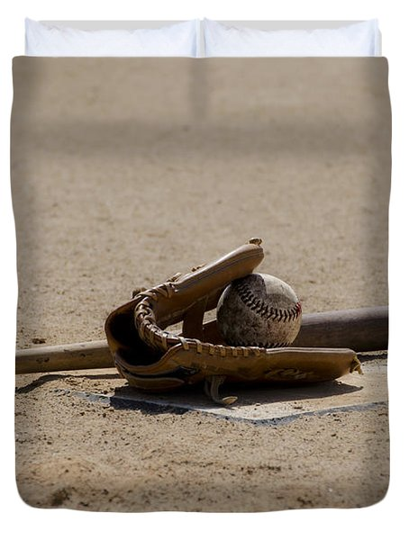 Softball Duvet Cover by Bill Cannon