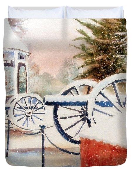 Softly Christmas Snow Duvet Cover