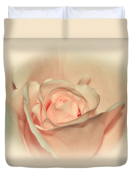 Softly Peach Duvet Cover by Kaye Menner