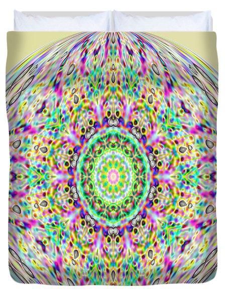 Softness. Art. Yellow Pink Design Duvet Cover