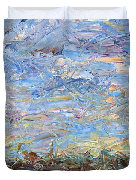 Soil Turmoil Duvet Cover by James W Johnson