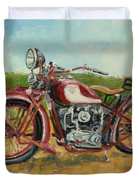 Sokol 1000 - Polish Motorcycle Duvet Cover