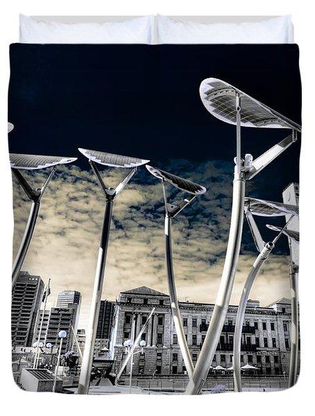 Solar City Duvet Cover by Wayne Sherriff