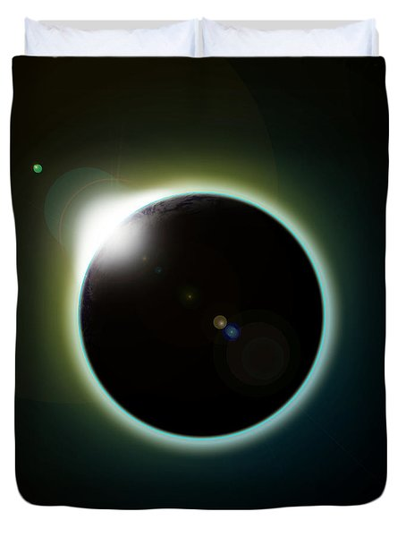 Solar Eclipse Duvet Cover by Antony McAulay