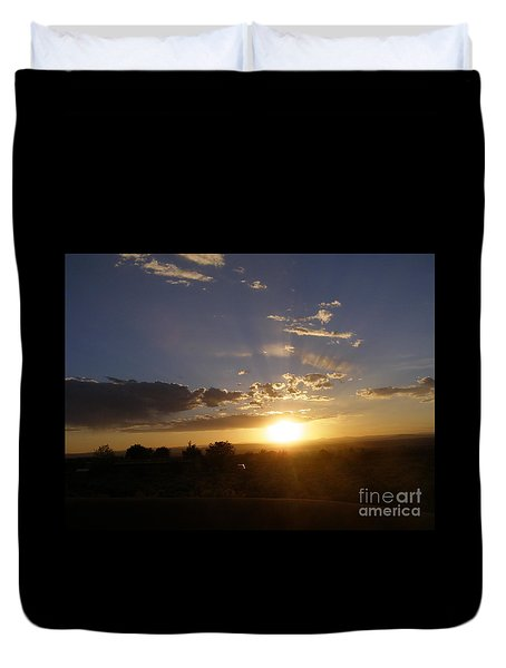 Solar Eclipse Sunset Duvet Cover