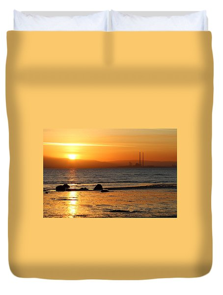 Solar Gold Duvet Cover