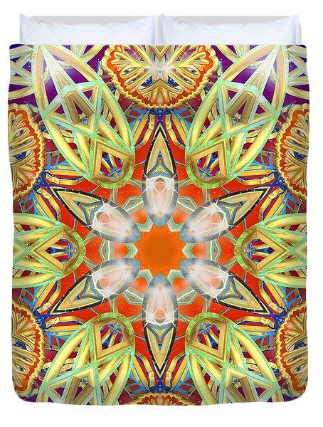 Solar Lattice Duvet Cover