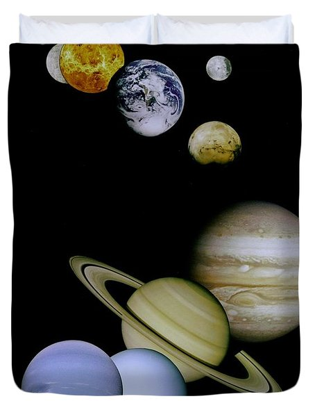 Solar System Montage Duvet Cover by Movie Poster Prints