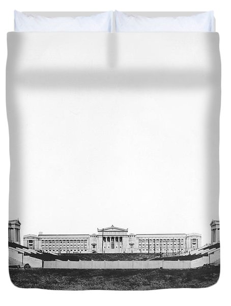 Soldiers' Field And Museum Duvet Cover
