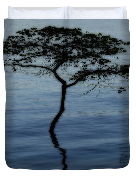 Solitaire Tree Duvet Cover