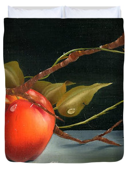 Solitary Apples Duvet Cover