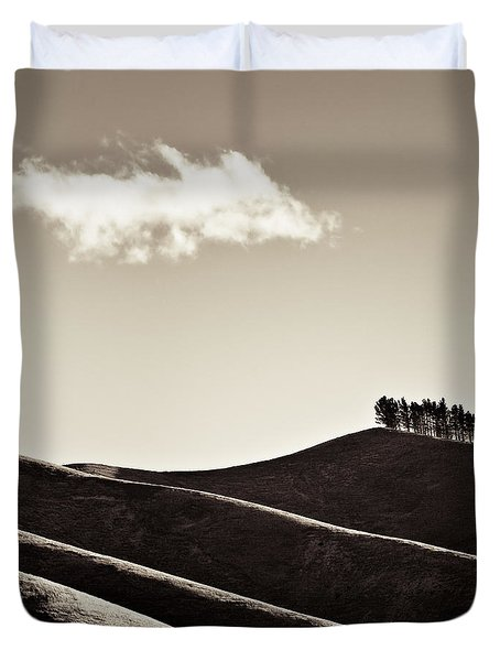 Solitary Cloud Duvet Cover by Dave Bowman