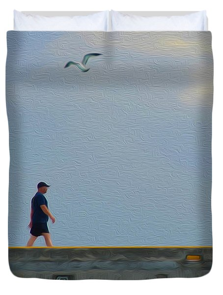 Solitary Walk With God Duvet Cover