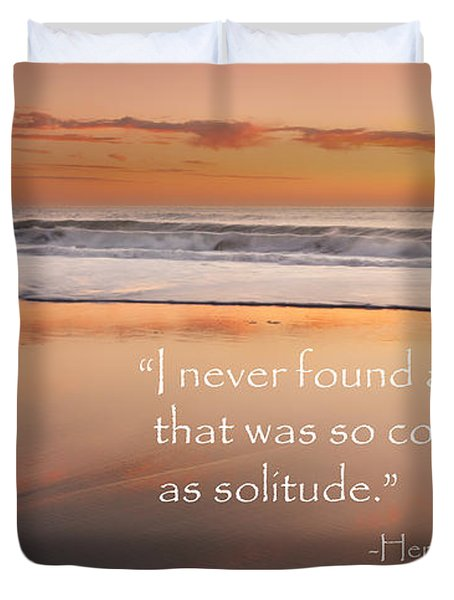 Solitude Duvet Cover by Bill Wakeley