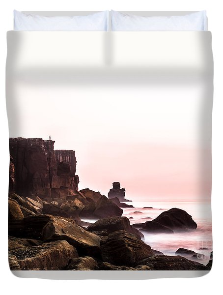 Duvet Cover featuring the photograph Solitude by Edgar Laureano