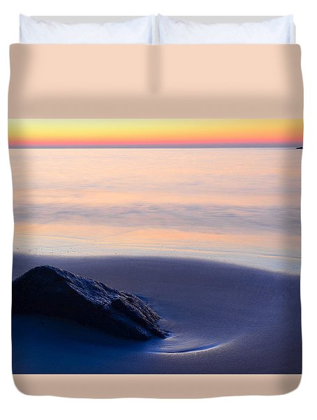 Solitude Singing Beach Duvet Cover by Michael Hubley