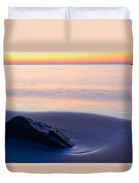 Solitude Singing Beach Duvet Cover