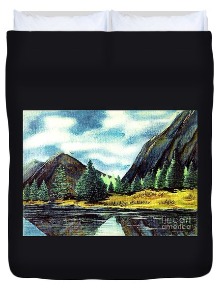 Duvet Cover featuring the painting Solitude by Patricia Griffin Brett