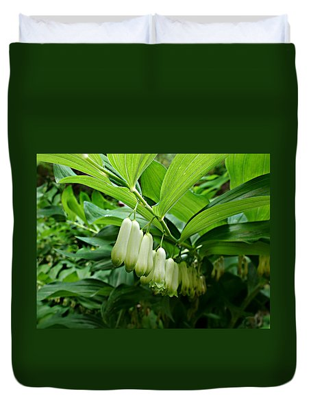 Wild Solomon's Seal Duvet Cover by William Tanneberger